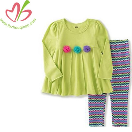 Girls' Rosettes Tunic with Leggings Set