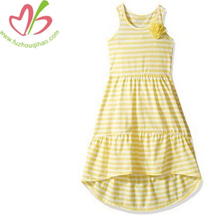 Girls' Stripe Maxi Dress