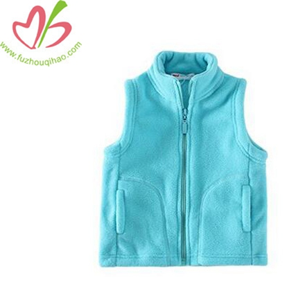 Girl's Vests Zipper Pocket