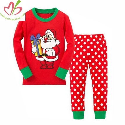 Christmas Red Girls' Pajamas