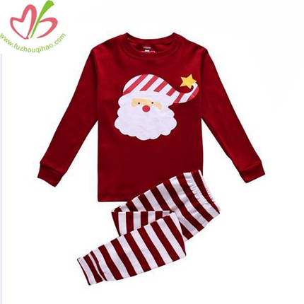 Purplish Red Girl's Pajamas Set