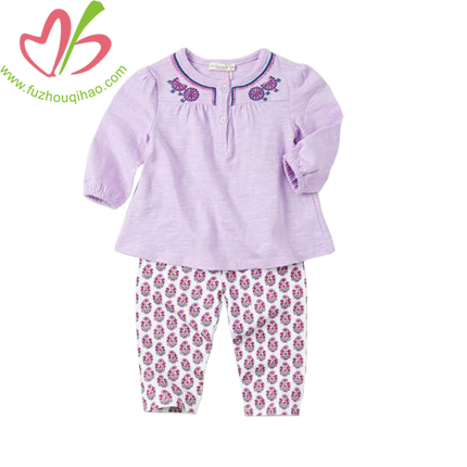 Cute Baby's Purple Sets, Infant Purple Top and Legging