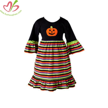 Halloween Holiday Custom Stripe Children's Dress