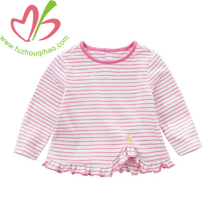 Girl's Long Sleeve Stripe T Shirt