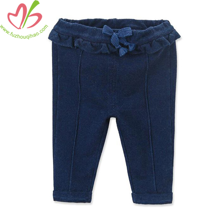 Cute Baby Denim Ruffle Legging