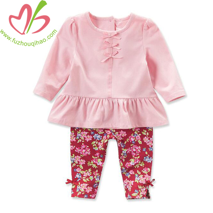 Pink Baby's Long Sleeve Sets