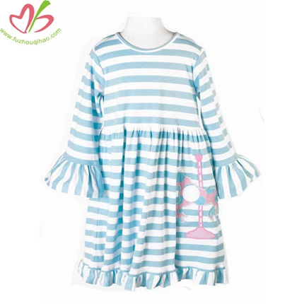 Custom Stripe Girl's Dress