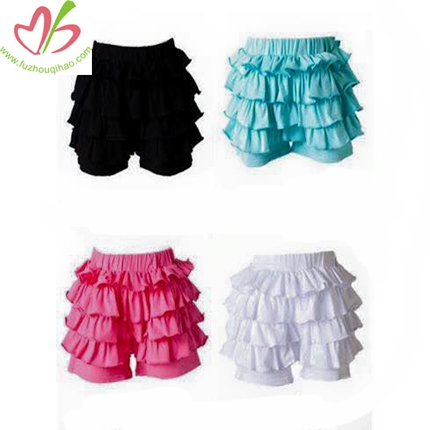 Multi Ruffled Girl's Bottom Short