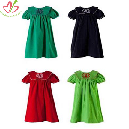 Different Colors Corduroy Girl's Dress