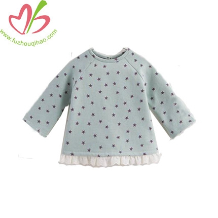 Spring Girl Printed Stars Long-sleeve Fleece