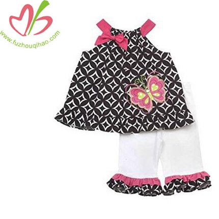 Baby Girl Black Geometric Butterfly Set