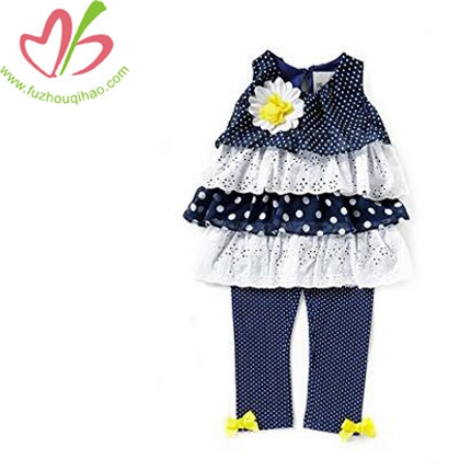 Baby Girl Navy Eyelet Summer Set