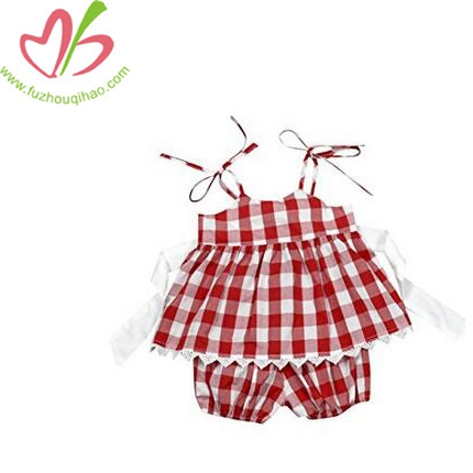 Baby Girls Sleeveless Backless T-shirt+Short Pants Set