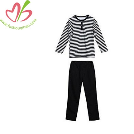 Kids Stripe Long Sleeve T-shirt Tops+Pants Set