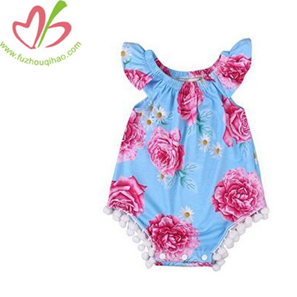 Newborn Baby Girl Sleeveless Infant Jumpsuit Outfit