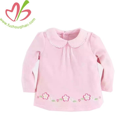 .Spring Girl's Blouse Velvet Long Sleeve T-shirt