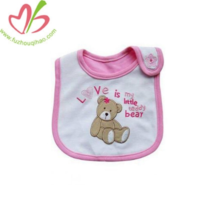 Teddy Bear Baby Girl Waterproof Bib
