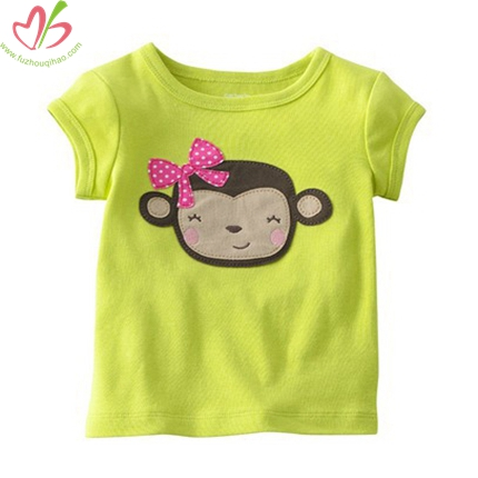 Lime Monkey Applique Kid's Shirt