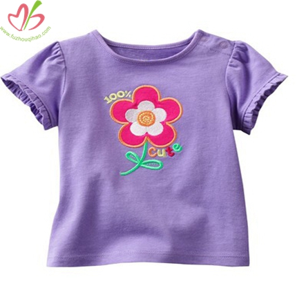 Purple Baby's T-shirt with Applique