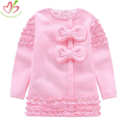 Custom Children Girl's Hoody with Polkadot Lining