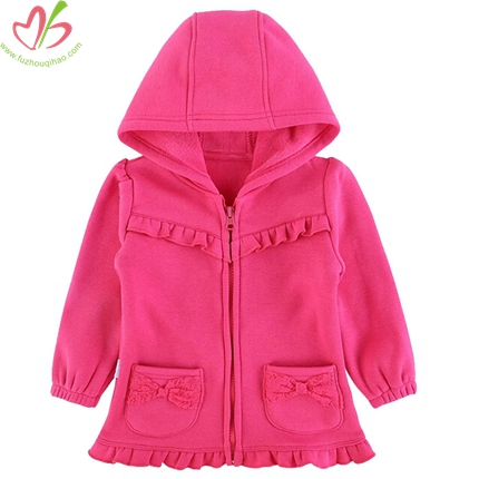 Hot Pink Children Jacket with Zipper