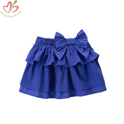 Royal Blue Plain Girl's Skirt