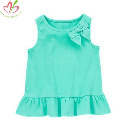 Mint Children Girl's Tank Shirt with Bow