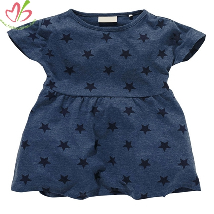 Star Printing Girl's Tunic Top