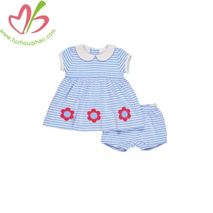 Smocked Striped Jersey Dress Baby Girl Clothing