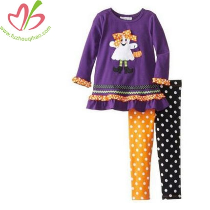 Girls Halloween Holiday Dress Legging Outfit