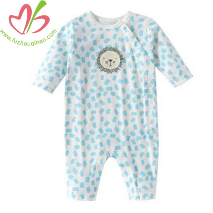 Baby Long Sleeve Romper with Lion Print