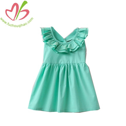 Girls Back Bow Vest Dress