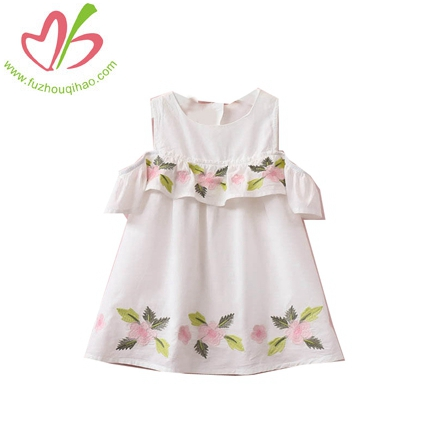 Embroidery Flower Princess Dress Of The Girls