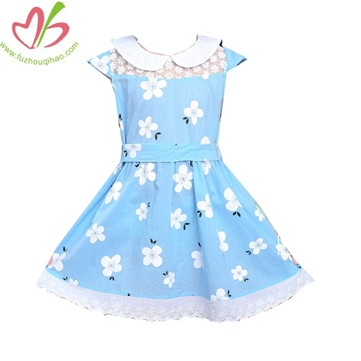 Pure Cotton Children's Wear Dress Princess Dress