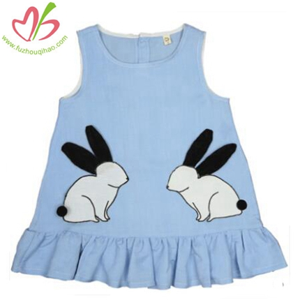 Girls' Lovely Rabbit Embryonic Vest Dress