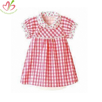 Red Gingham Baby Girl's Dress