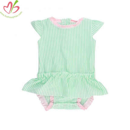 Seersucker Baby Romper with Bloomer