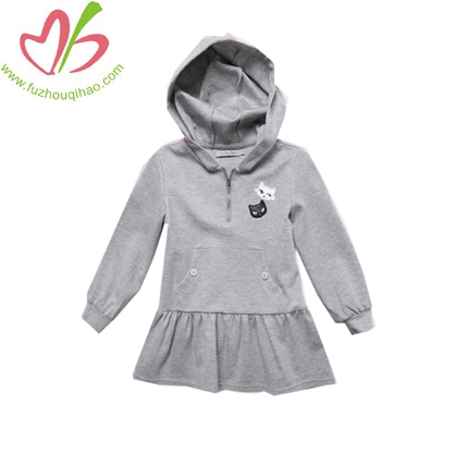 Girls Interlock Hooded Dress