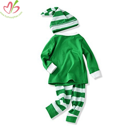 Green Baby Pajamas Set with Hat