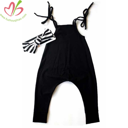 Black Baby One Pc Clothes with Headband