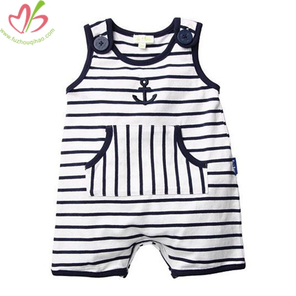 Black and White Baby Boy's Romper