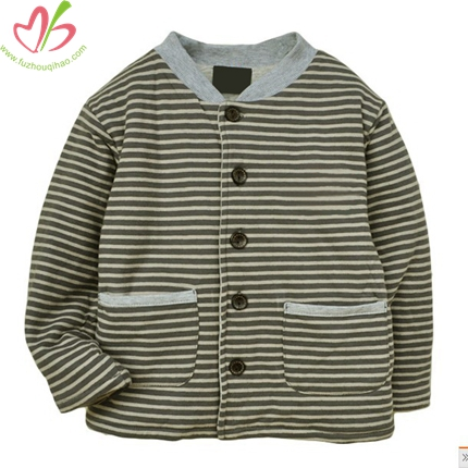 Button Down Unisex Children Coat