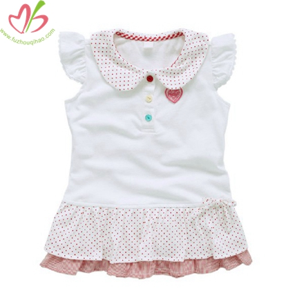 Cute Flutter Sleeves White Baby Blouse