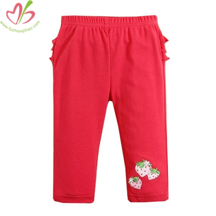 Baby Girl's Legging With Ruffles At Back