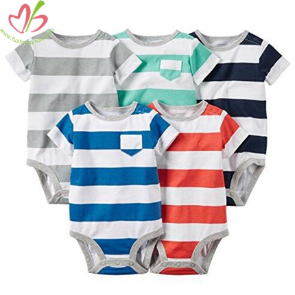 2cm Striped Infant Romper