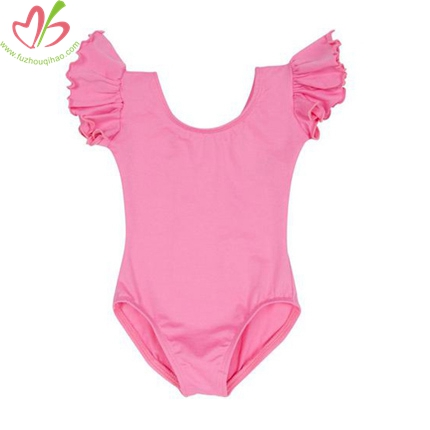 Nylon/Spandex Baby Onesies with Ruffled Sleeves