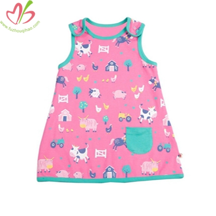 100% Cotton Printed Baby Dress