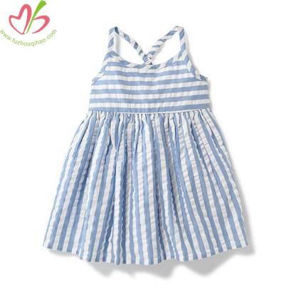 Harness Seersucker Kids Girl's Dress